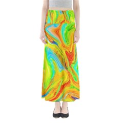 Happy Multicolor Painting Maxi Skirts by designworld65