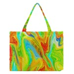 Happy Multicolor Painting Medium Tote Bag
