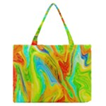 Happy Multicolor Painting Medium Zipper Tote Bag