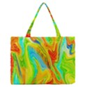 Happy Multicolor Painting Medium Zipper Tote Bag View1