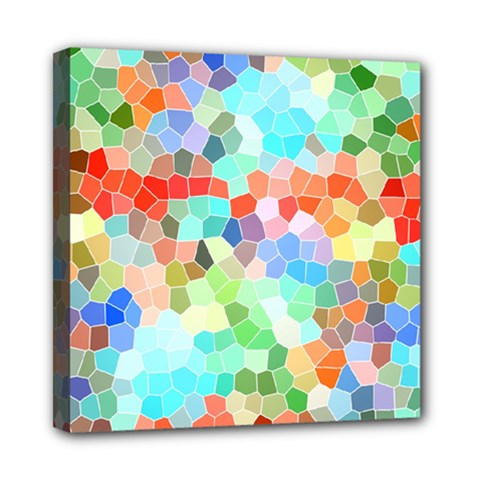 Colorful Mosaic  Mini Canvas 8  X 8  by designworld65