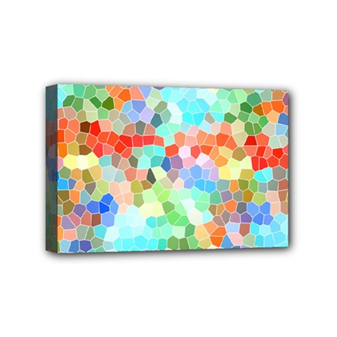 Colorful Mosaic  Mini Canvas 6  X 4  by designworld65