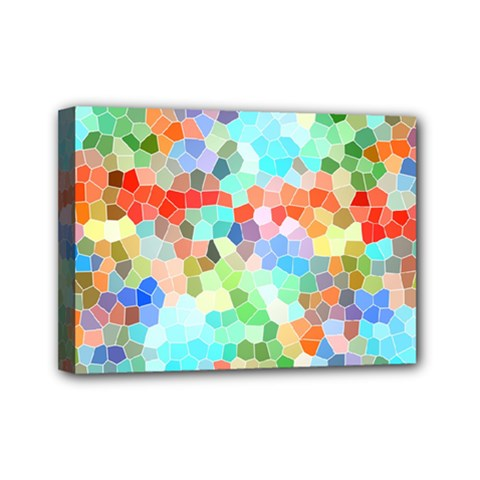 Colorful Mosaic  Mini Canvas 7  X 5  by designworld65