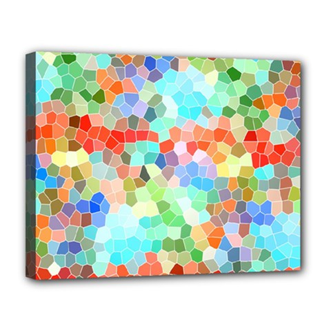 Colorful Mosaic  Canvas 14  X 11  by designworld65