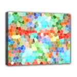 Colorful Mosaic  Canvas 14  x 11