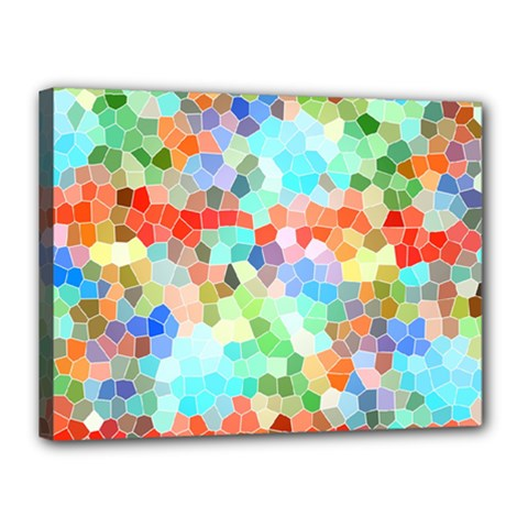 Colorful Mosaic  Canvas 16  X 12  by designworld65