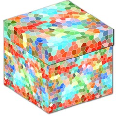 Colorful Mosaic  Storage Stool 12   by designworld65