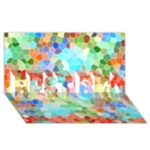 Colorful Mosaic  BEST BRO 3D Greeting Card (8x4)