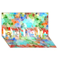 Colorful Mosaic  Believe 3d Greeting Card (8x4) by designworld65