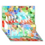 Colorful Mosaic  WORK HARD 3D Greeting Card (7x5)