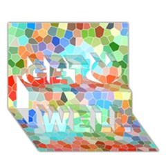 Colorful Mosaic  Get Well 3d Greeting Card (7x5) by designworld65