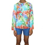 Colorful Mosaic  Kids  Long Sleeve Swimwear