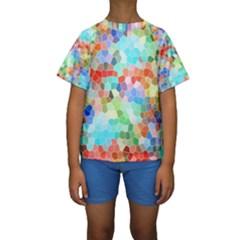 Colorful Mosaic  Kids  Short Sleeve Swimwear by designworld65