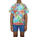 Colorful Mosaic  Kids  Short Sleeve Swimwear