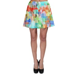 Colorful Mosaic  Skater Skirt by designworld65