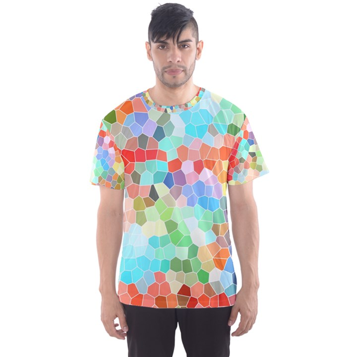 Colorful Mosaic  Men s Sport Mesh Tee