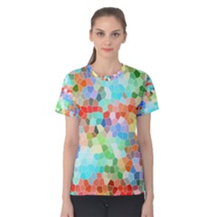Colorful Mosaic  Women s Cotton Tee by designworld65