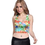 Colorful Mosaic  Racer Back Crop Top