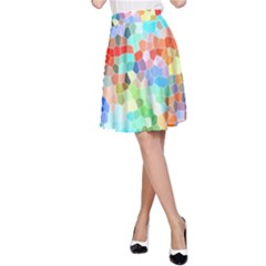 Colorful Mosaic  A-Line Skirt