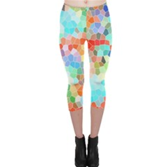 Colorful Mosaic  Capri Leggings  by designworld65