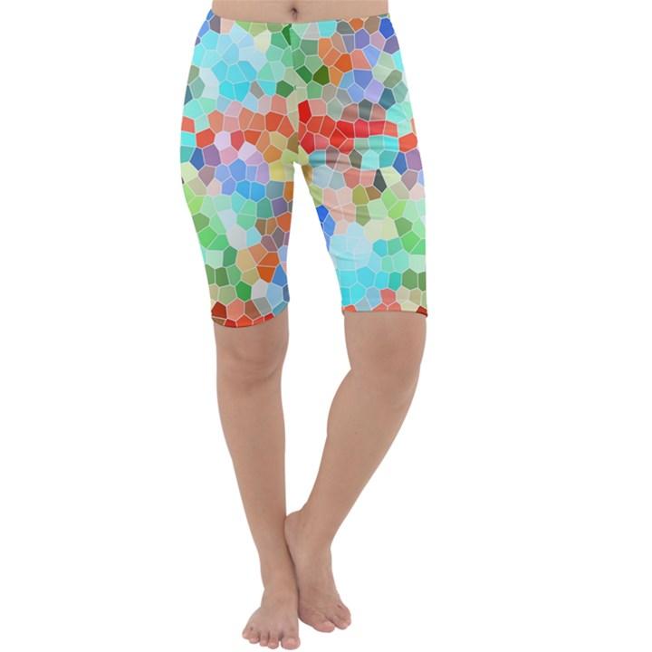 Colorful Mosaic  Cropped Leggings