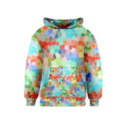 Colorful Mosaic  Kids  Pullover Hoodie by designworld65