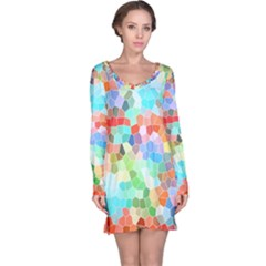 Colorful Mosaic  Long Sleeve Nightdress by designworld65