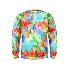 Colorful Mosaic  Kids  Sweatshirt