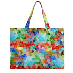 Colorful Mosaic  Zipper Mini Tote Bag by designworld65