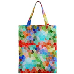 Colorful Mosaic  Zipper Classic Tote Bag by designworld65