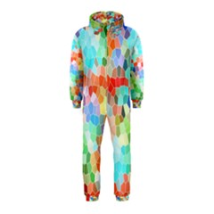 Colorful Mosaic  Hooded Jumpsuit (kids) by designworld65