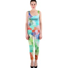 Colorful Mosaic  Onepiece Catsuit by designworld65