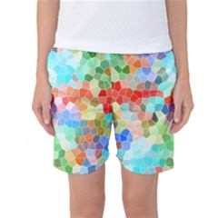 Colorful Mosaic  Women s Basketball Shorts by designworld65