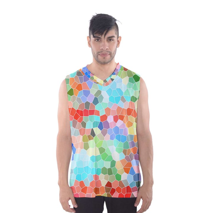 Colorful Mosaic  Men s Basketball Tank Top