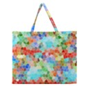 Colorful Mosaic  Zipper Large Tote Bag View1