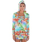 Colorful Mosaic  Women s Long Sleeve Hooded T-shirt