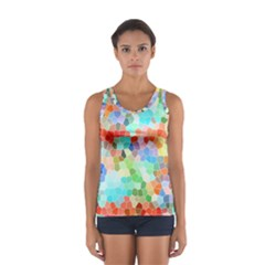 Colorful Mosaic  Women s Sport Tank Top  by designworld65