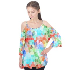 Colorful Mosaic  Flutter Tees by designworld65