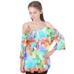 Colorful Mosaic  Flutter Tees