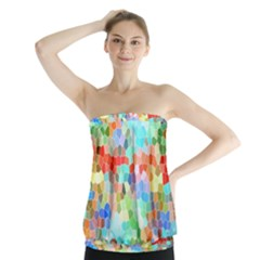 Colorful Mosaic  Strapless Top by designworld65