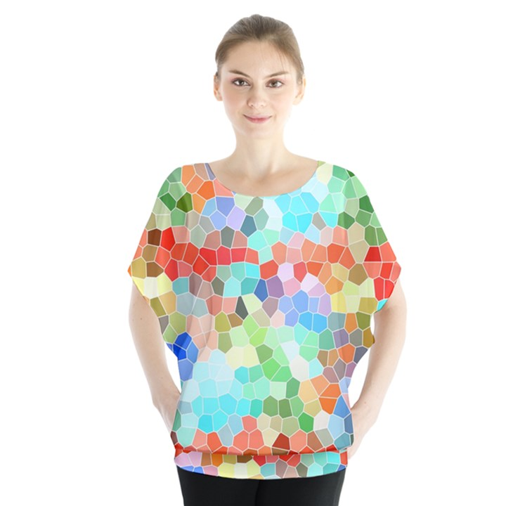 Colorful Mosaic  Blouse