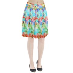 Colorful Mosaic  Pleated Skirt