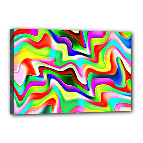 Irritation Colorful Dream Canvas 18  x 12