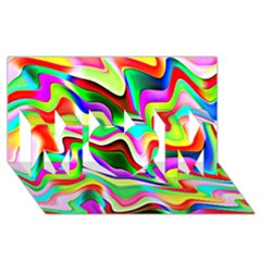 Irritation Colorful Dream MOM 3D Greeting Card (8x4)
