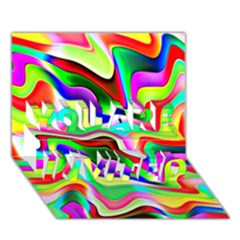 Irritation Colorful Dream You Are Invited 3d Greeting Card (7x5) by designworld65