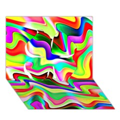 Irritation Colorful Dream Clover 3D Greeting Card (7x5)