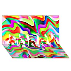 Irritation Colorful Dream SORRY 3D Greeting Card (8x4)