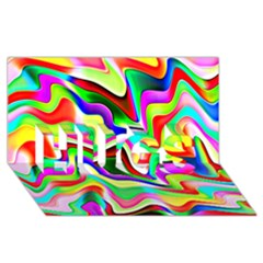 Irritation Colorful Dream HUGS 3D Greeting Card (8x4)