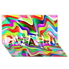 Irritation Colorful Dream ENGAGED 3D Greeting Card (8x4)