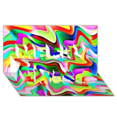 Irritation Colorful Dream Merry Xmas 3d Greeting Card (8x4) by designworld65